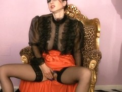 Trinity-Productions: Hairy Long Red Skirt