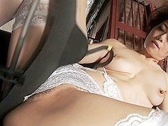 Best Japanese model Maki Hojo in Crazy JAV uncensored Stockings video
