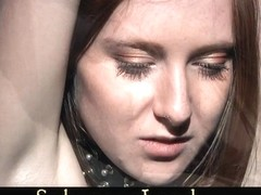 Innocent redhead hard played and toyed