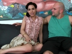 Cute young Latina sucking for money