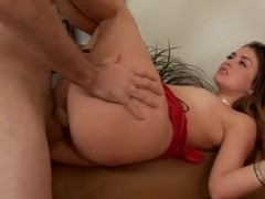 Hot anal sex with pornstars Allie Haze and Ralph Long