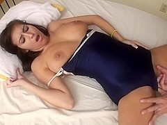 AMWF SEXY BRUNETTE APRIL LATINA FUCKS ASIAN MAN