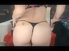 Big titted milf is stripping her slutty clothes