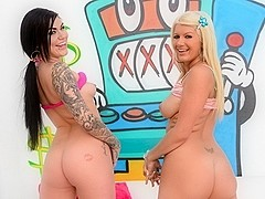 Karmen Karma & Layla Price in Slurpy Throatsluts #03 Movie