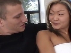 Asian Lucy Lee Swallows Salty Mouthful