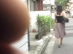 Boob sharking encounter with some truly alluring Japanese babe