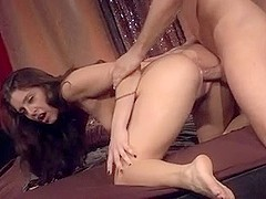 Sexy girl gets cum on small tits