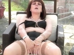 British non-professional granny receives nasty and soaked