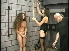Legal Age Teenager serf receives her arms and cookie thonged by 1st time goddess