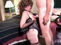 Hairy haired sweetheart in stockings