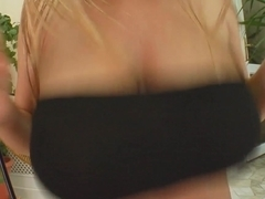 Prime Cups Hot threesome for blonde with big tits