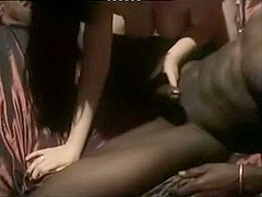 Non-Professional bigtit wife is screwed at home by her spouse and darksome ally