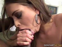 Riley Reid tests out a new big black dick