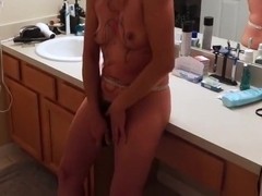 asian milf - masturbates with vibrator
