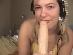 Begging for tips during the time that gagging on a sex toy