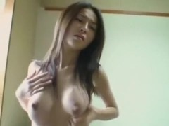 Appealing oriental interior jizz flow oozing out