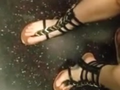 Candid nice feet in sandals