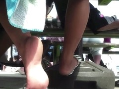 candid feet shoeplay by zymolosis
