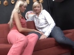 Two Hot Blondes Eating Each Others' Assholes