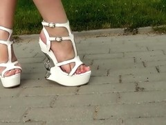 Metal Wedge Sandals
