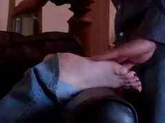 Foot and Cum Insane - Shelly's Soles blasted, licked clean!