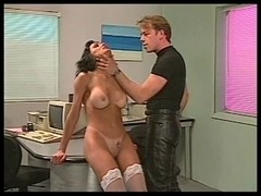 Hottie spanked hard by corporalist