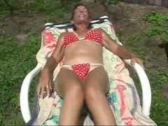 mother i'd like to fuck playing on sunlounger