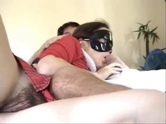Young Wife w Hairy Mound Gives Amazing Head