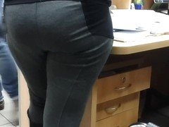 Our sexy secretary . Type in the back .