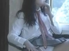 Susanna Francesca Schoolgirl Striptease and Masturbating