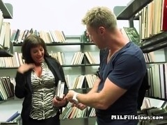 MILF Teases Young Stud And Touches Herself