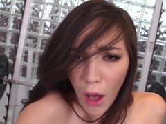 Holly squirts in the gym after steamy blowjob and deepthroat