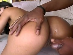 Latina takes a big black dick