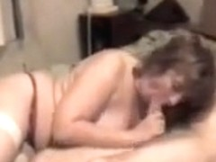 Chubby mature wife gives bj and screw