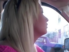 Blonde With Huge Boobs Fucking and Sucking
