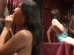 Two horny bitches in hot group porn