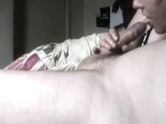 Homemade oral-job and doggy