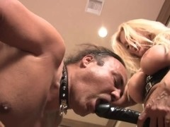 Strapon fucked from both ends