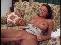 British doxy Vicky fucking on daybed
