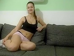 Cute German Babe Riding Big Cock