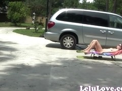 Lelu Love-Outdoor Masturbation Asshole Puckering