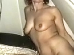 Playing with herself and sucking cock