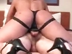 this babe tearing is arse with a large jock at the hotel