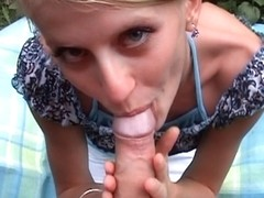 Non-Professional wang sucker swallowing all jism fucking in wood