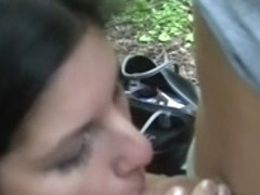 Ebon hard fuck hotty in the forest for 200 euros