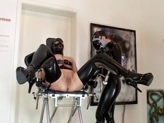 Shaving lesbian babes - with latex and SADOMASOCHISM