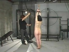 Suspending & Whipping A Cute Japanese M