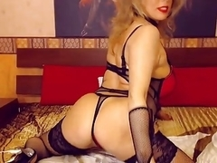 Older Golden-Haired Mother I'd Like To Fuck Teases on Web Camera Underware