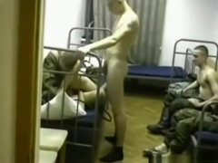 Russian slut supports the army with her pussy