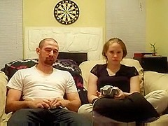 Hot amateur porn of a video-games-loving couple